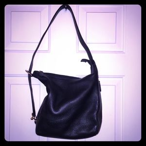 Timmy Woods Beverly Hills Black Leather Hobo Bag